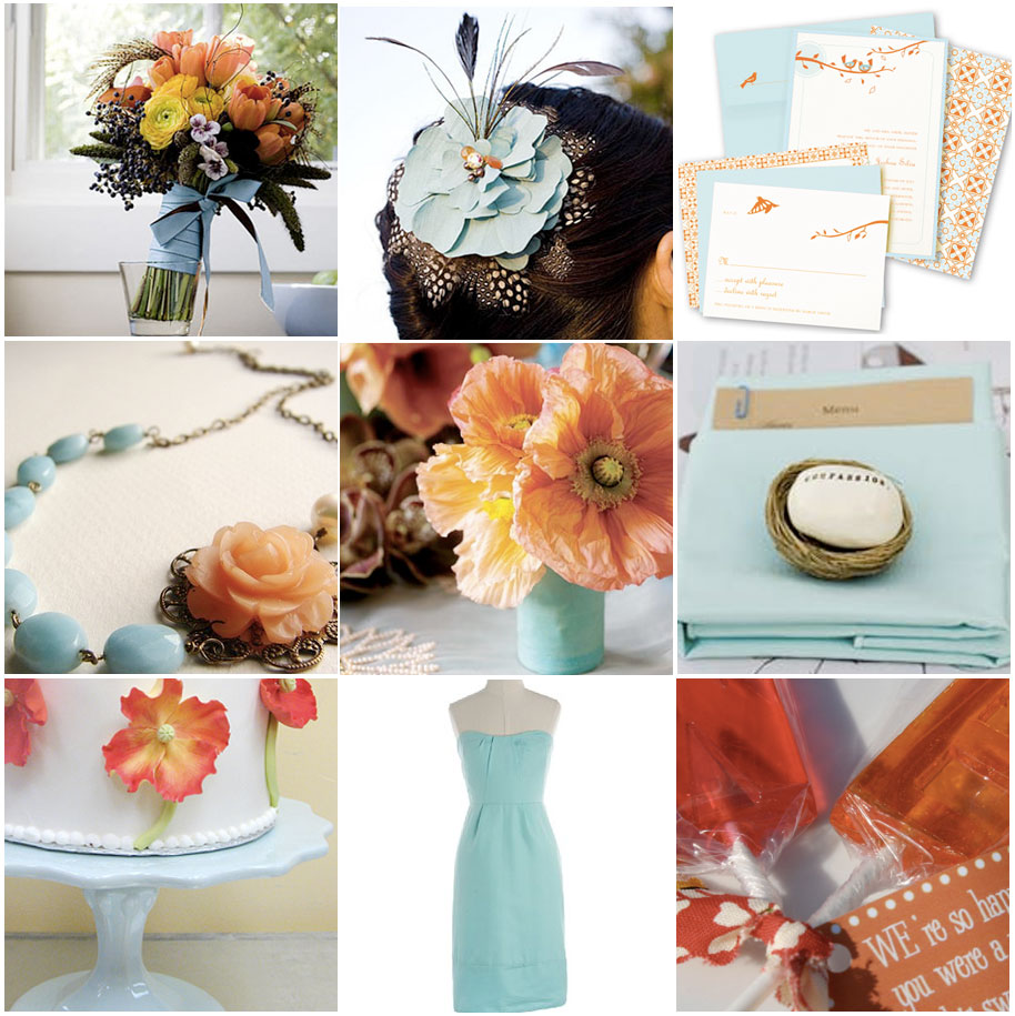 Wedding Blog Im in love: Aqua and Poppies