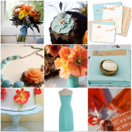 I'm in love: Aqua and Poppies