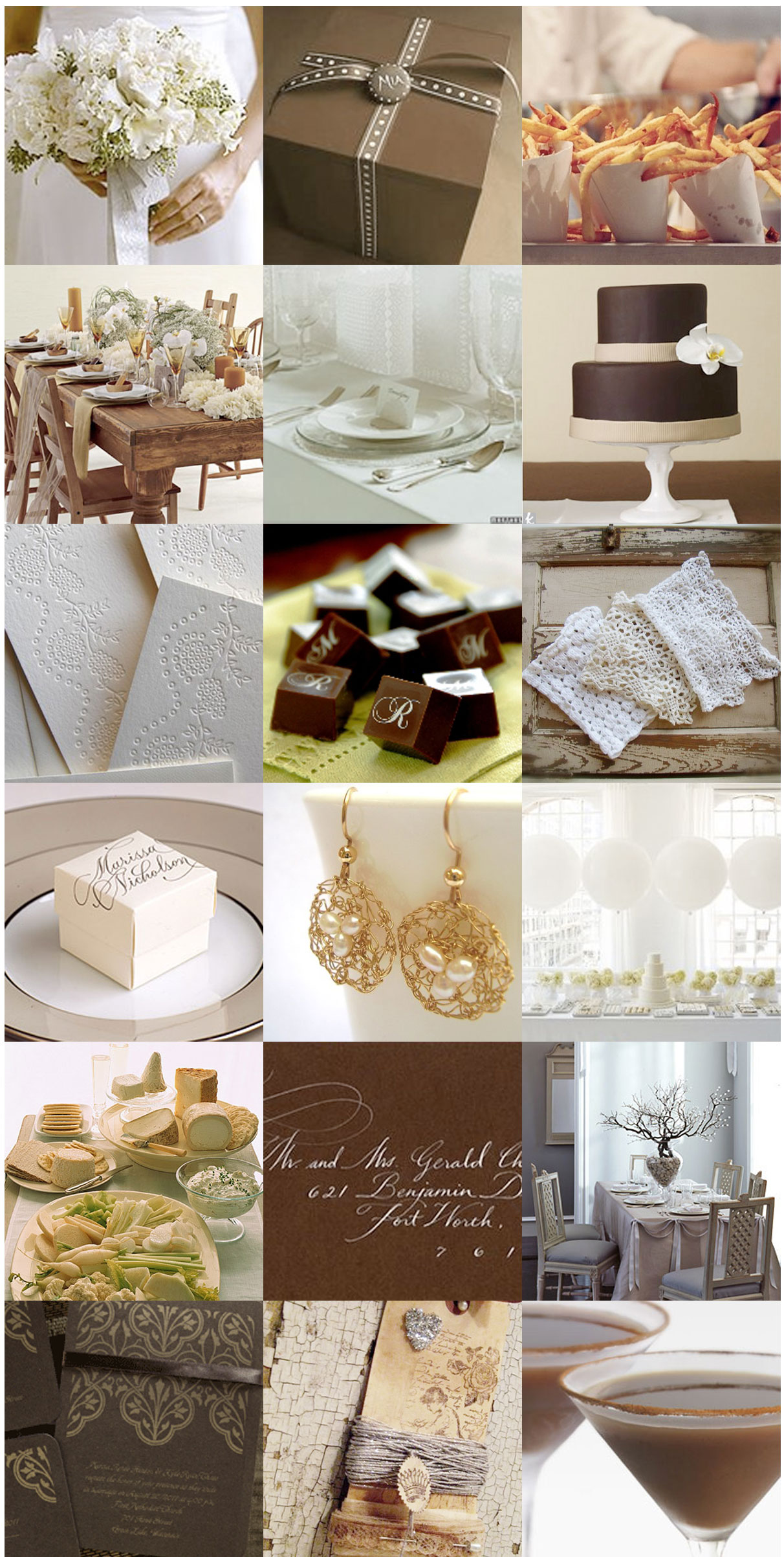 Wedding Blog Inspiration Request: Brown and White