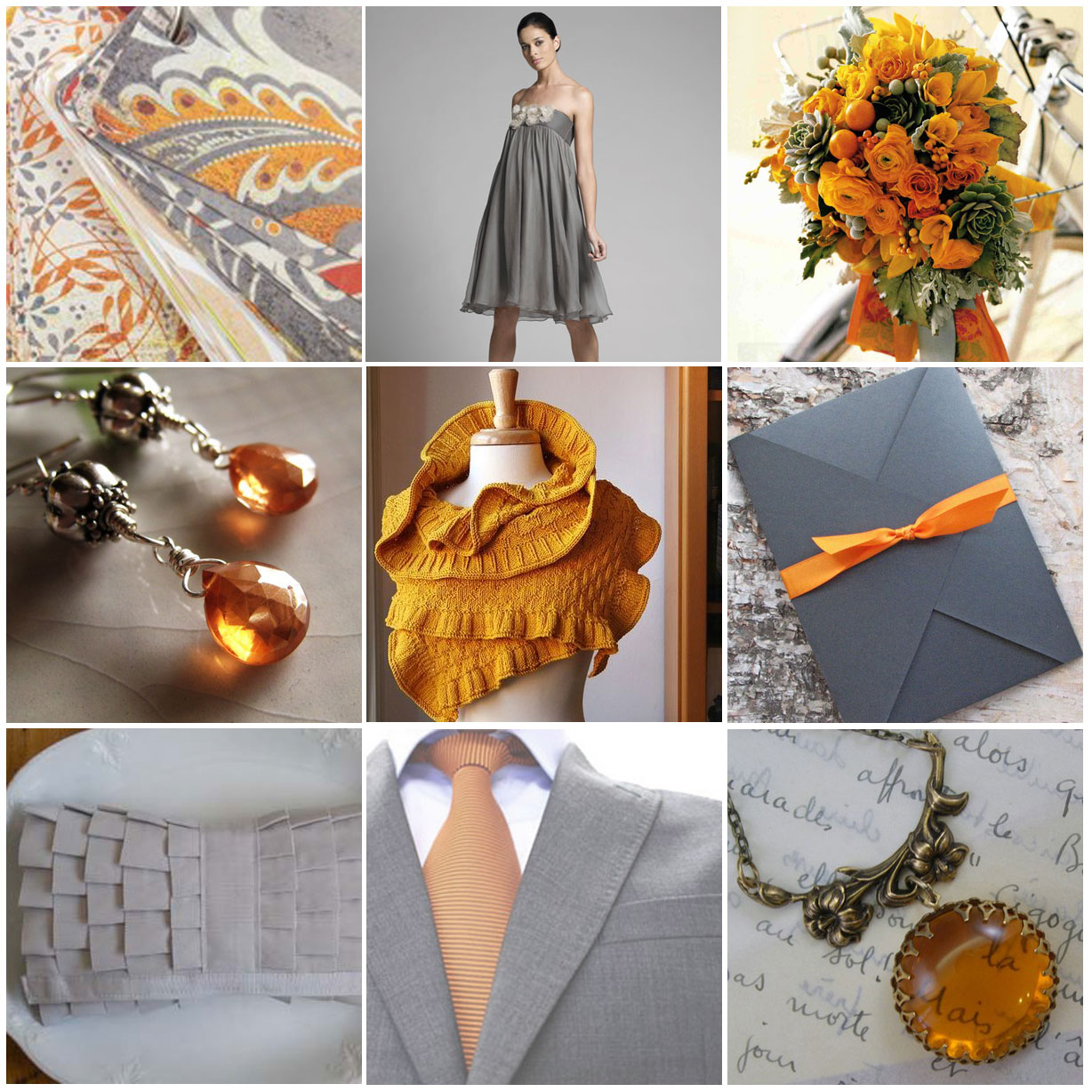 Wedding Blog Grey and Marigold
