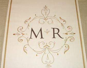 DIY(ish) Friday: Monogram Aisle Runner