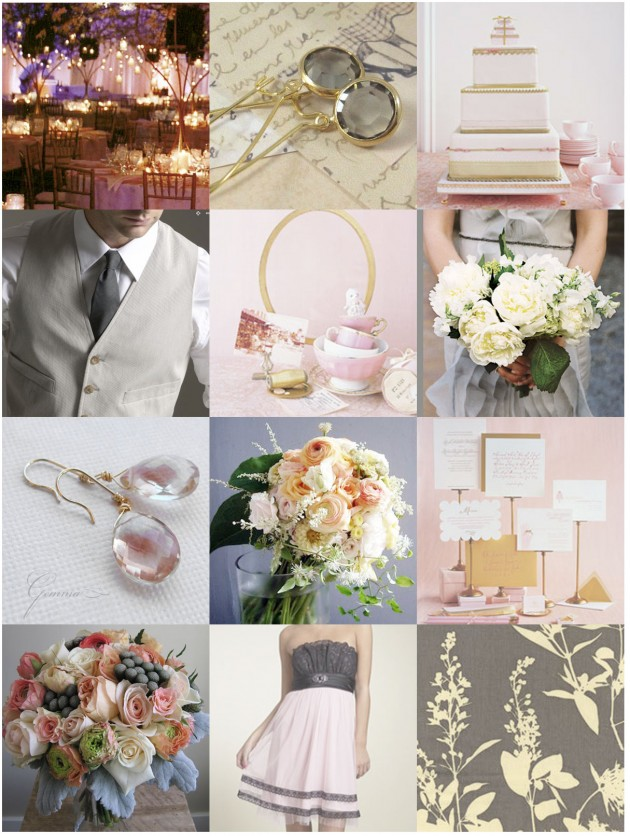 Wedding Blog Inspiration Request: Grey, Gold and Blush