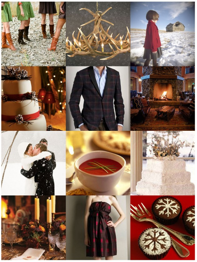 Wedding Blog Inspiration Request: Winter Cabin & Pea Coats