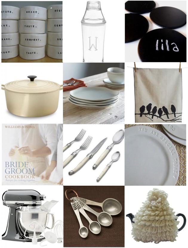 Wedding Blog Kitchen Registry & Shower