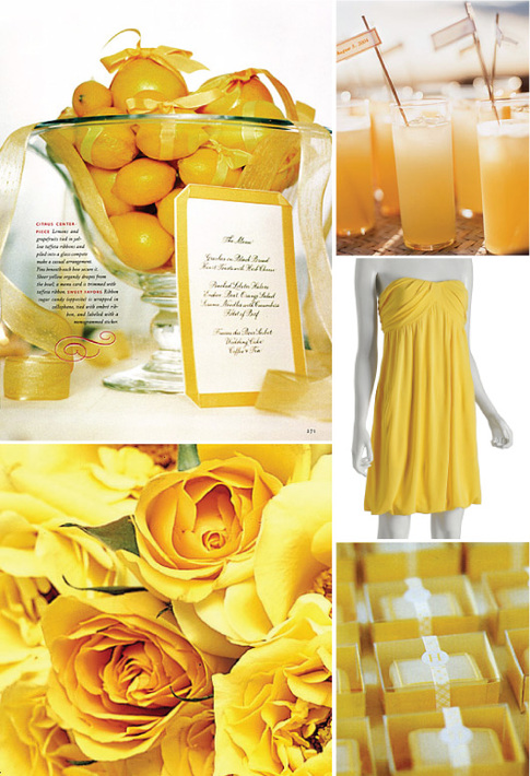 If you are having a yellow wedding like this