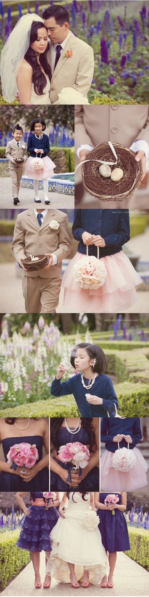 Wedding Blog Real Wedding: Navy & Pink