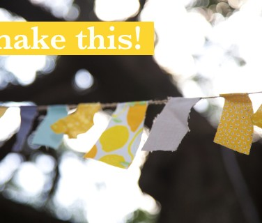 DIY Friday: No Sew Garland