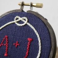 Miniature Rhino: CUSTOM embroidery