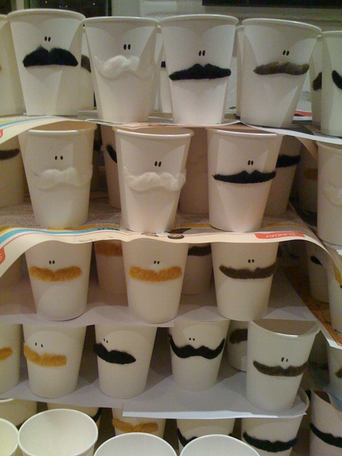 Wedding Blog Mustache Coffee Cups