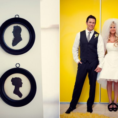 Mod-tastic Real Wedding: Lisette and John