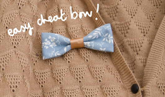 Wedding Blog DIY: Cheat Bow Tie