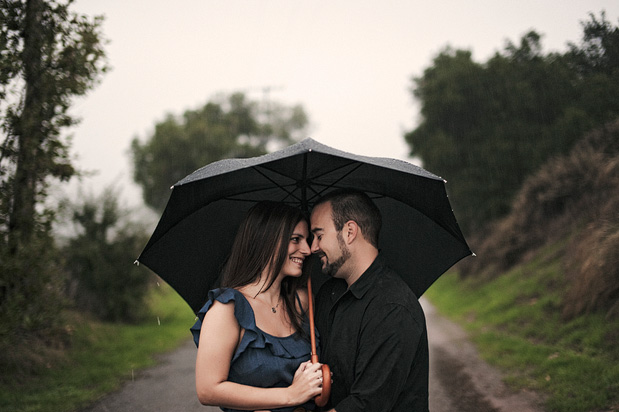 Wedding Blog Rainy Day Engagement