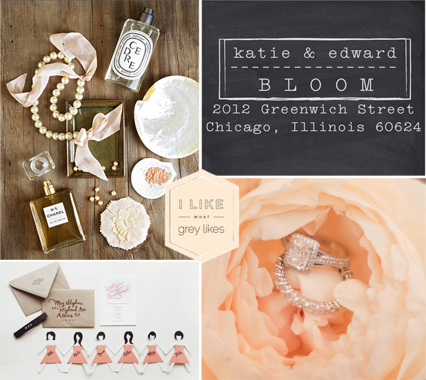 Wedding Blog I Like What Grey Likes: Stamps and Sequins