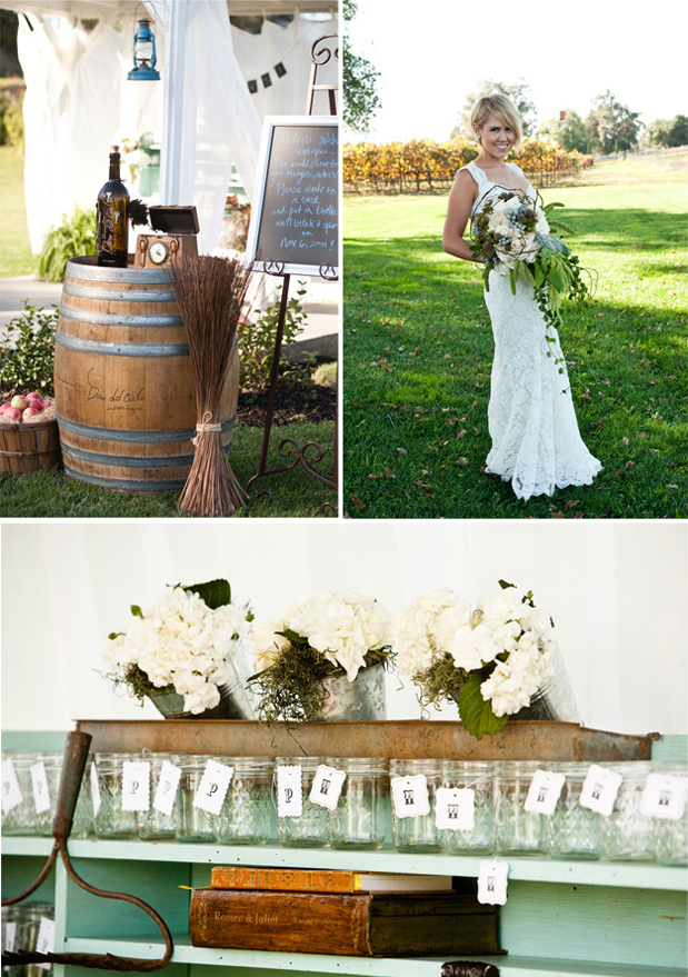 rustic winery wedding,