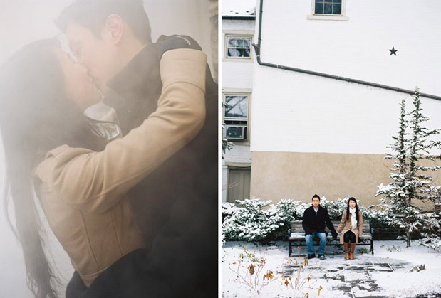 Wedding Blog Engaged: Snow in the City