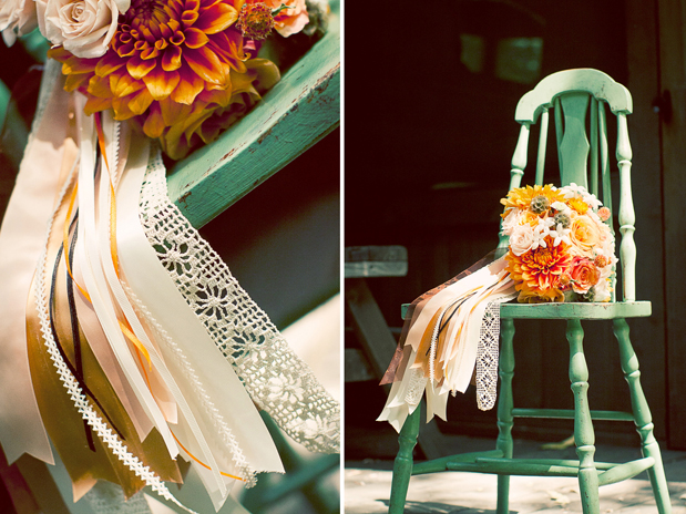Wedding Blog Rustic Estate Wedding: Ribbons Galore!