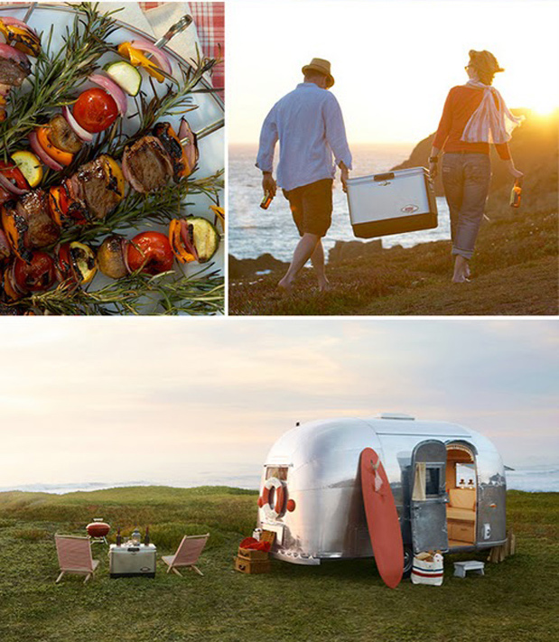Airstream road trip picnic