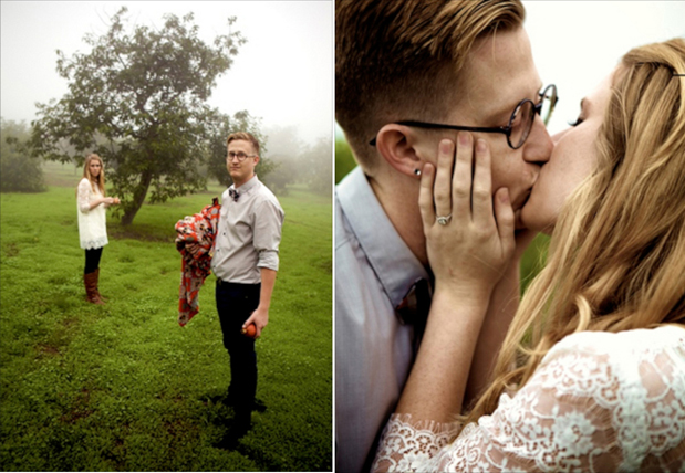 Wedding Blog Engagement in Malibu Fog