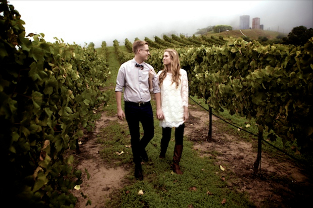Wedding Blog Engagement in Malibu Fog