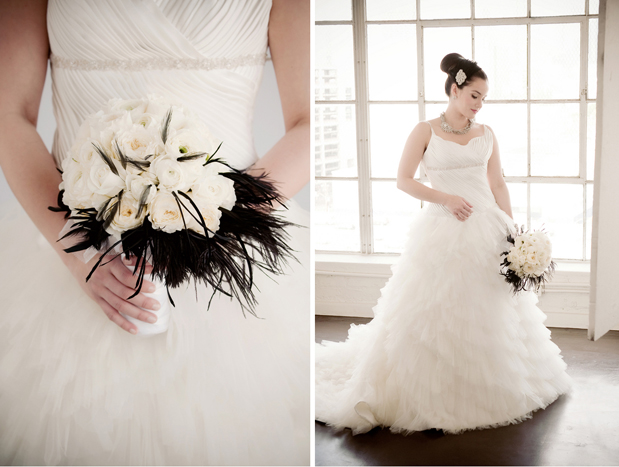 black and white modern glam wedding