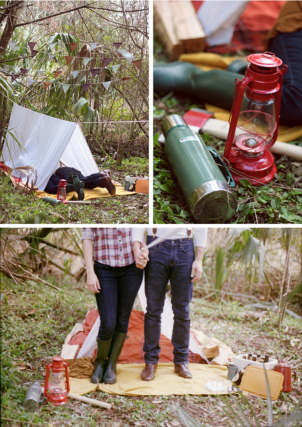 Wedding Blog Camping Trip Engagement