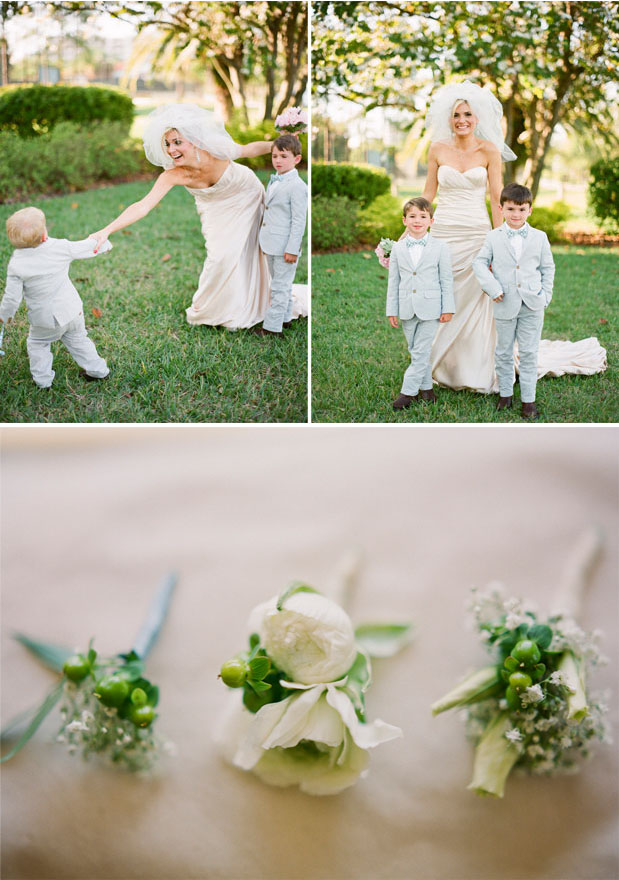 davis_islands_garden_club_green_blue_florida_wedding_justindemutiisphotography_lovell_carney boutonnieres, ring bearer tuxedo