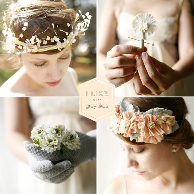 which goose bridal floral headpieces