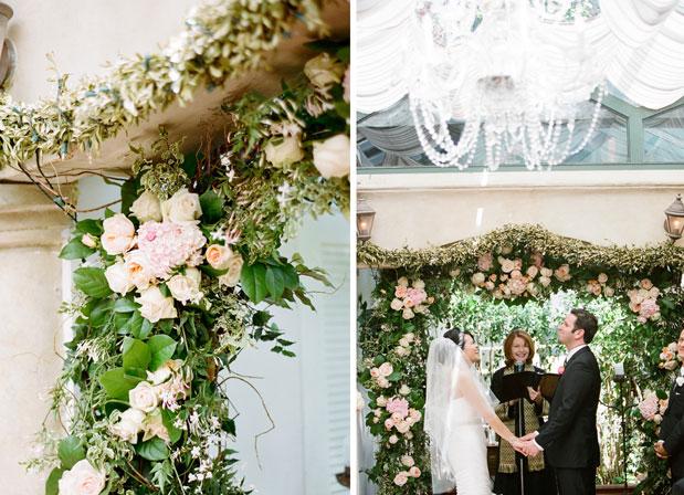 il cielo wedding pink floral arch