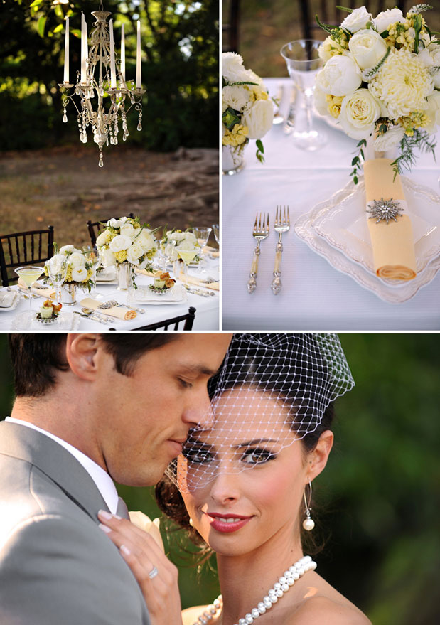 yellow wedding inspiration great gatsby wedding southern birdcage veil chandelier