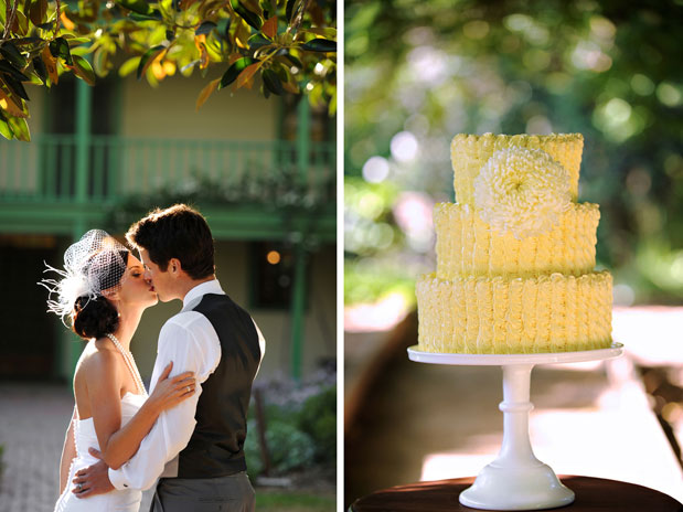lemon yellow wedding cake