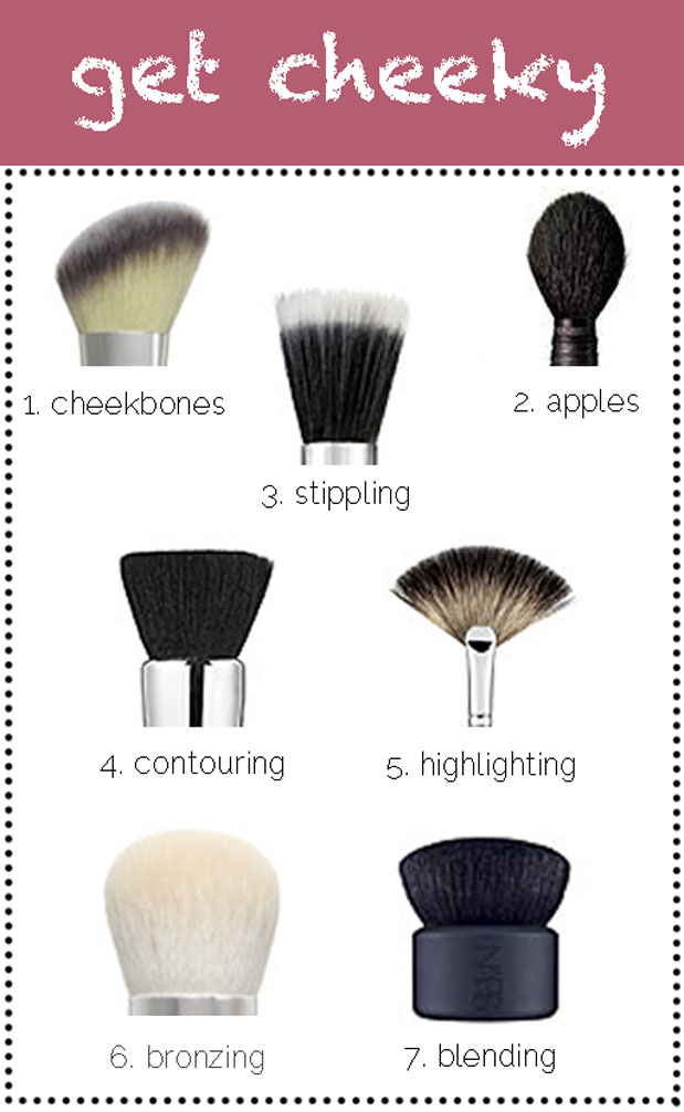 blush brush make up tips