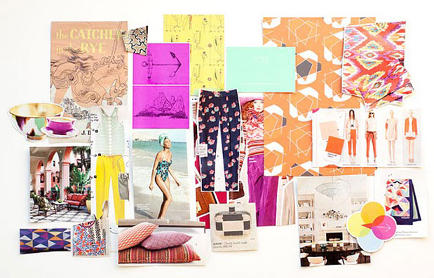 bright summer inspiration board