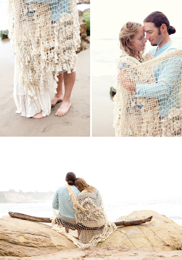 shabby chic beach blanket