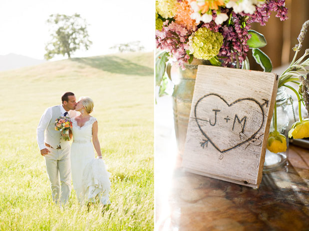 heart cut out wedding santa margarita ranch