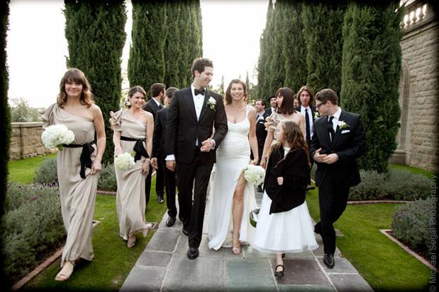 scarlett chorvat wedding grey stone manor one shoulder bridesmaid dress