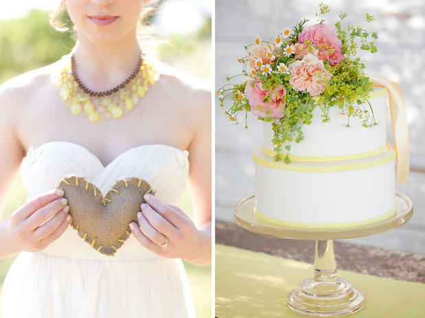 pink and yellow wedding cake la fleuriste sonoma florist