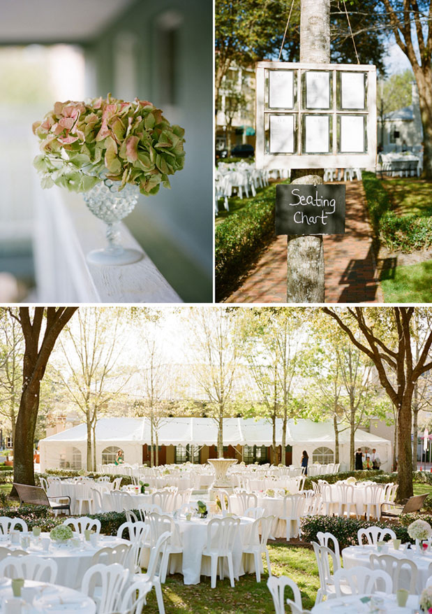 pink and green hydrangea unique vintage seating chart