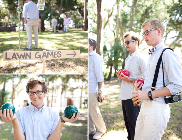 bocce ball wedding games outdoor backyard wedding