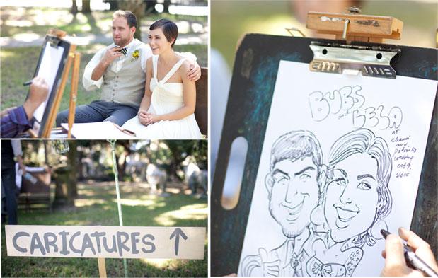 caricatures wedding activity