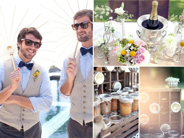 groomsmen bowties vests