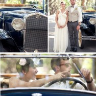 Striped Bow Ties, Caricatures, and a Vintage Getaway Car