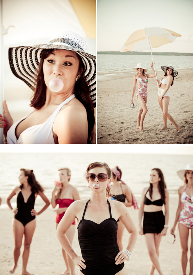 Wedding Blog Vintage Swimsuits, Beach Bunnies, and a Bridal Shower