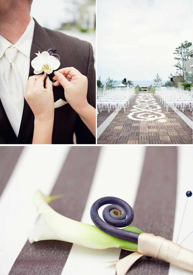 beach nautical boutonniere wedding at l'auberge del mar san diego