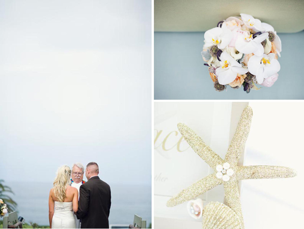 glam beach wedding romantic