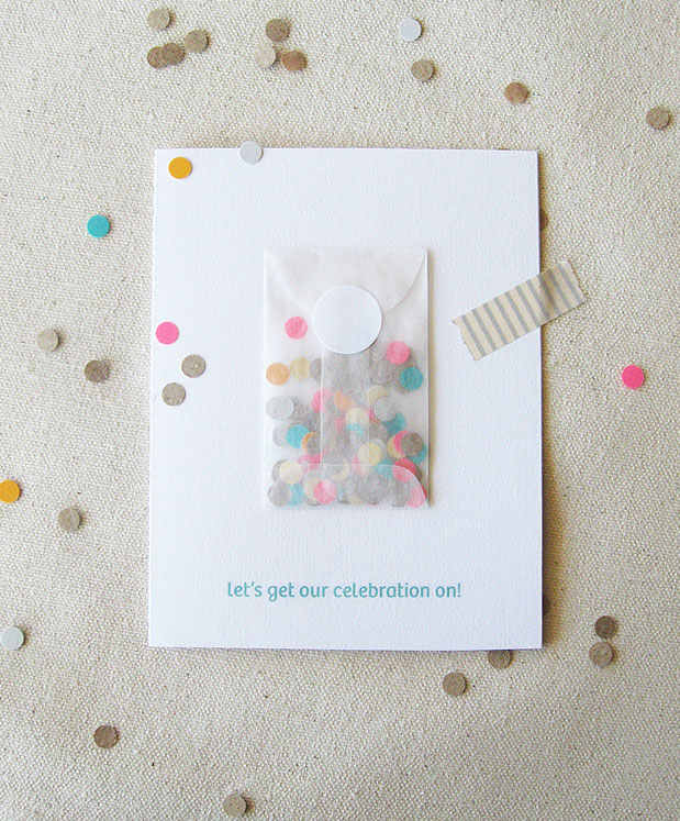 confetti card birthday stationery handmade diy paper sam dubeau