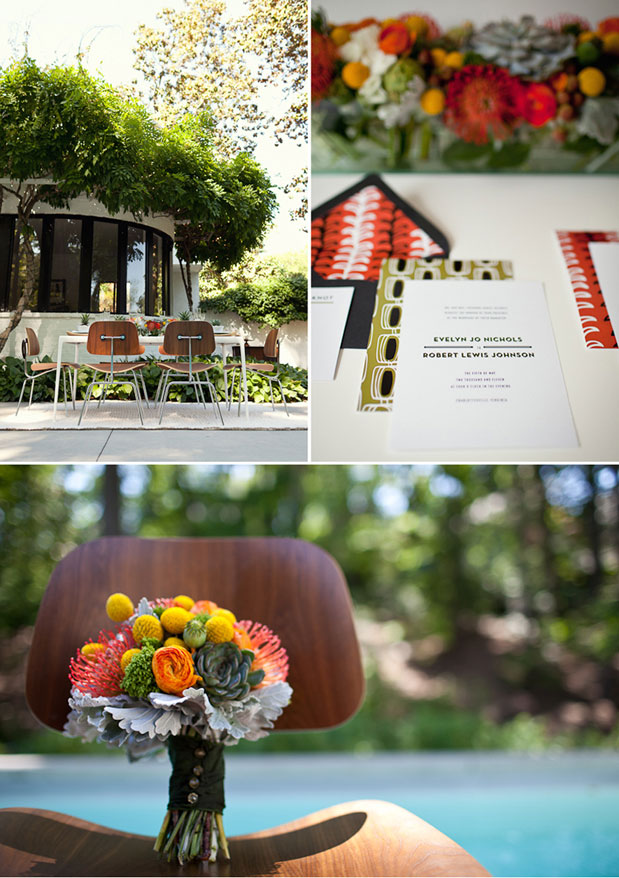Wedding Blog The Best Mid Century Modern Wedding Inspiration. Ever.