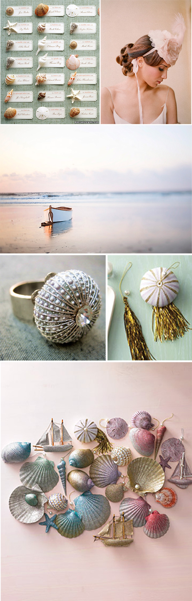 sea urchin glitter ornament bridal jewelry for beach wedding twigs and honey elizabeth messina sunset boat martha stewart craft ideas