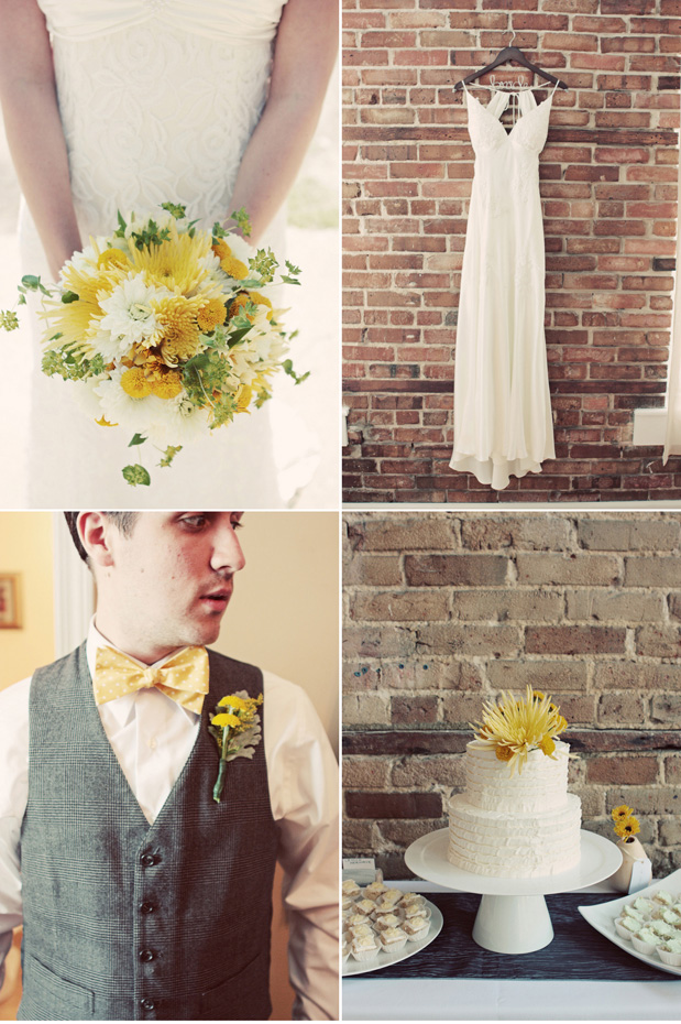 yellow bouquet forage bowtie yellow cake