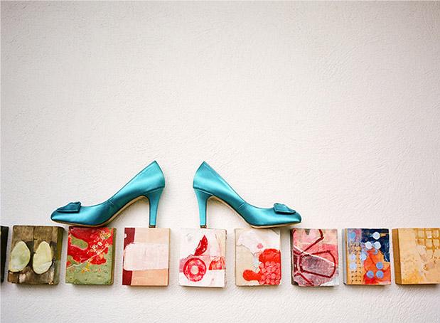 aqua teal wedding heels shoes