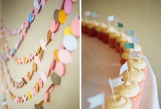 cupcake flags paper garland